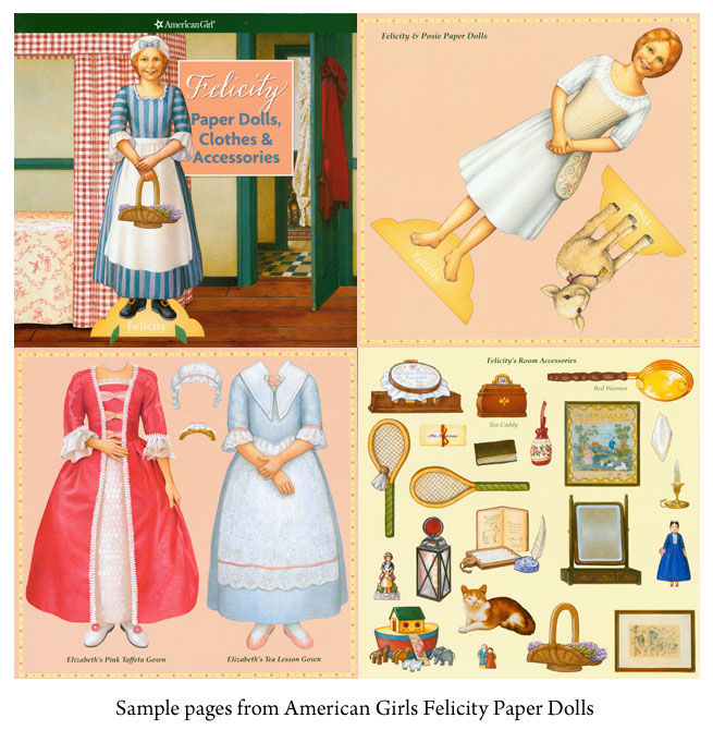 American Girl Felicity Paper Dolls - Click Image to Close