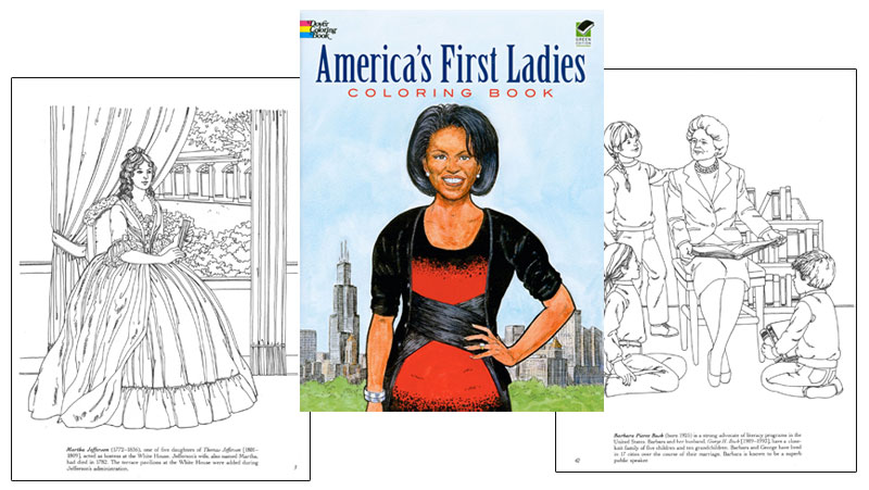 America S First Ladies Coloring Book Educational Coloring