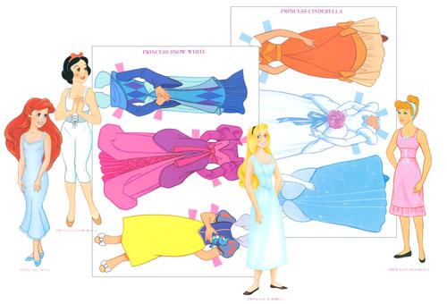 3d Disney Princess Paper Dolls Images Paper Princess Printable