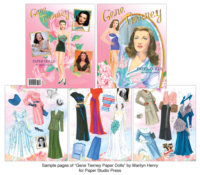 Gene Tierney Paper Dolls On Screen Beauty  Paper Dolls Of