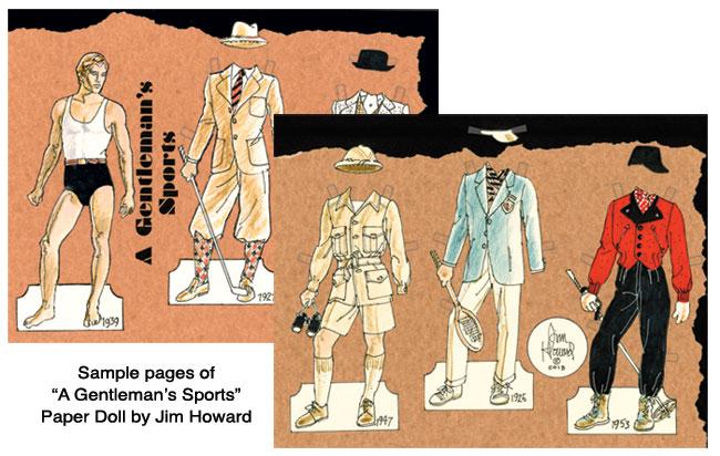A Gentleman S Sports Dandy Sporting Attire Paper Dolls