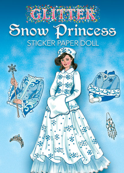 Glitter Snow Princess Sticker Paper Doll