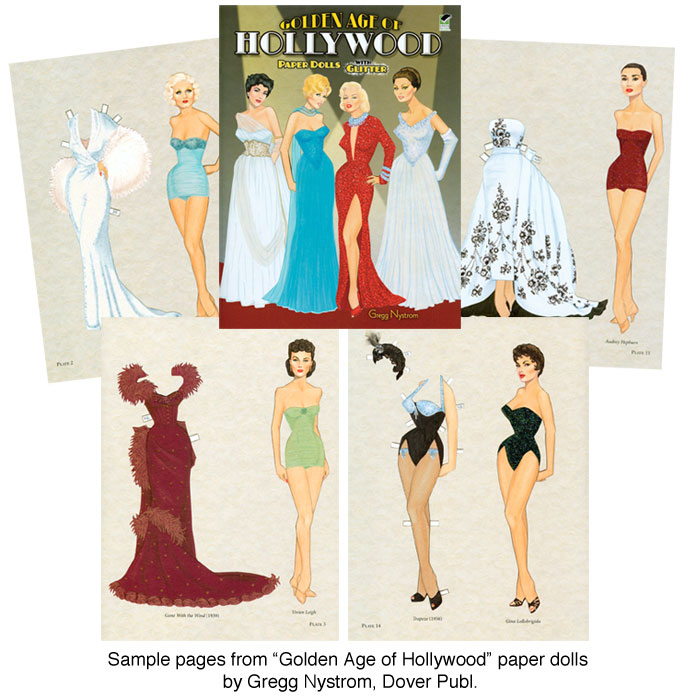 Golden Age Of Hollywood Paper Dolls [Gorgeous Glamour Gals