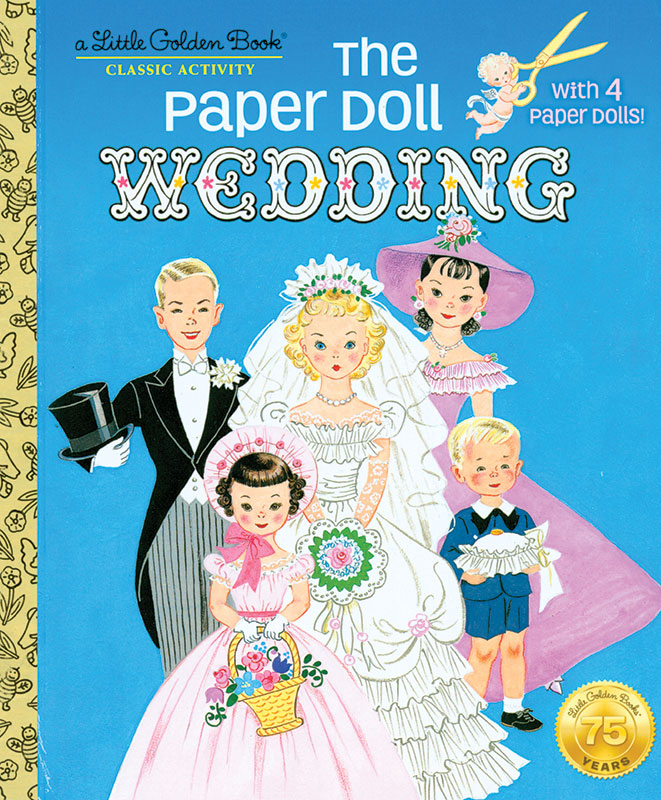 The Paper Doll Wedding - A Little Golden Book