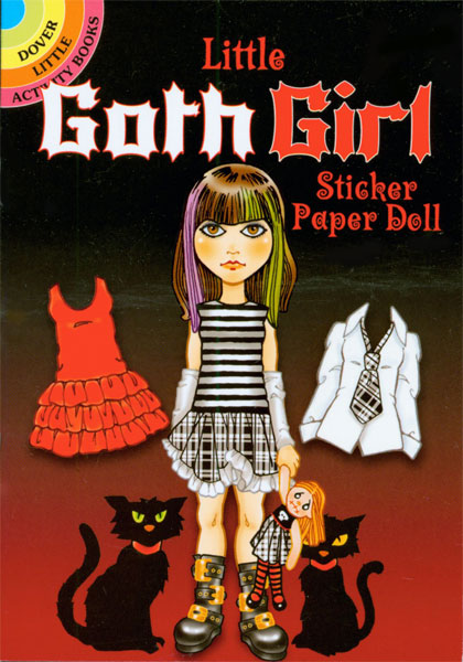 Little Goth Girl Sticker Paper Doll
