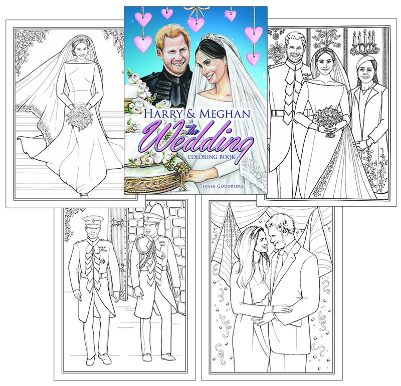 Harry and Meghan: The Wedding Coloring Book [Color the royal wedding ...