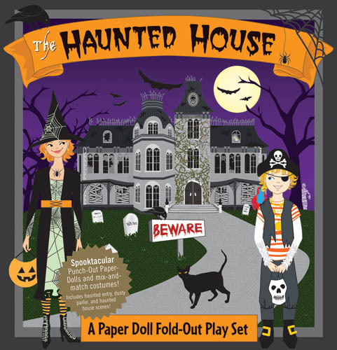 Activity books playsets paper dolls of classic stars for Classic haunted house novels
