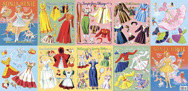 Sonja Henie paper dolls
