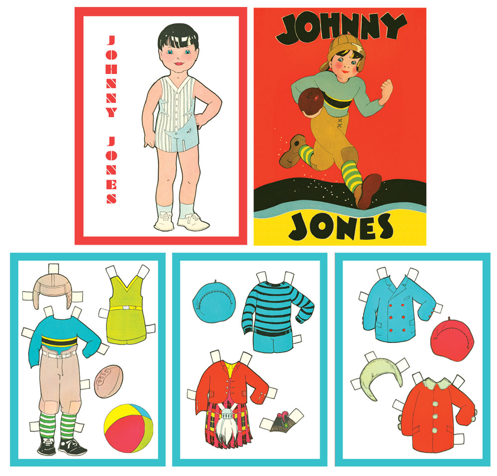Johnny Jones Paper Doll - Click Image to Close