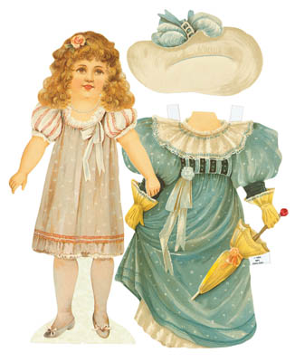 Lady Jane, Die Cut Victorian Paper Doll