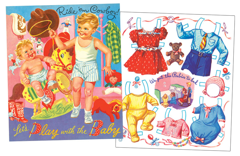 Let's Play with the Baby Paper Dolls