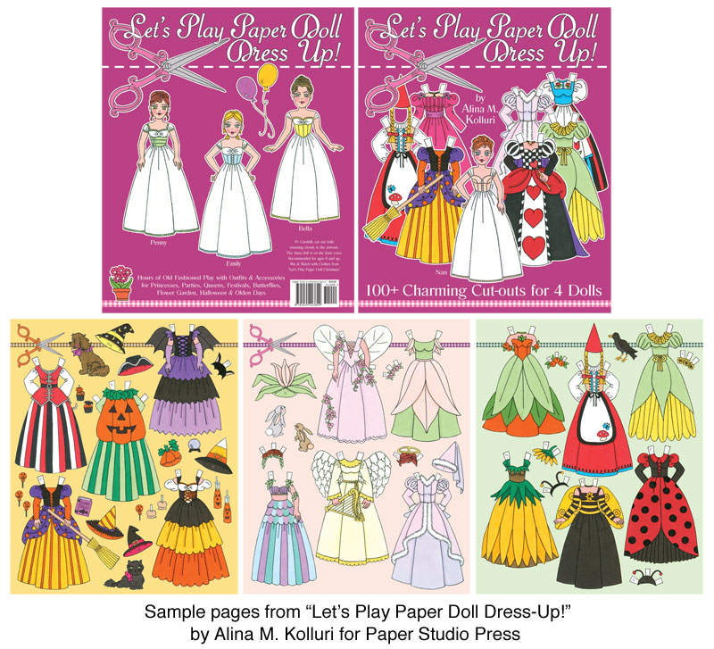 Let'S Play Paper Doll Dress Up! [Tons Of Cut-Outs For 4 Dolls