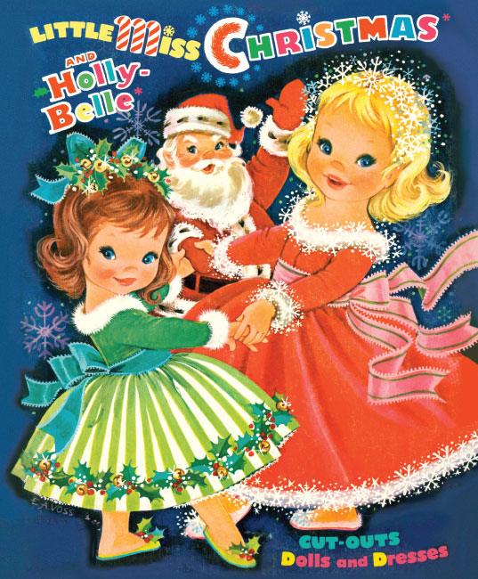 Little Miss Christmas Paper Doll - Click Image to Close