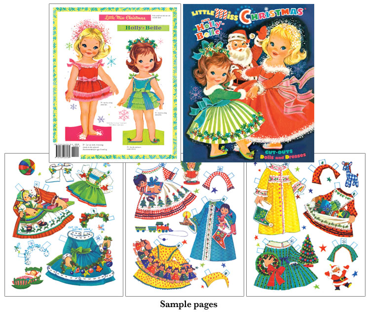 Little Miss Christmas Paper Doll [Two Sweet Holiday Paper Dolls
