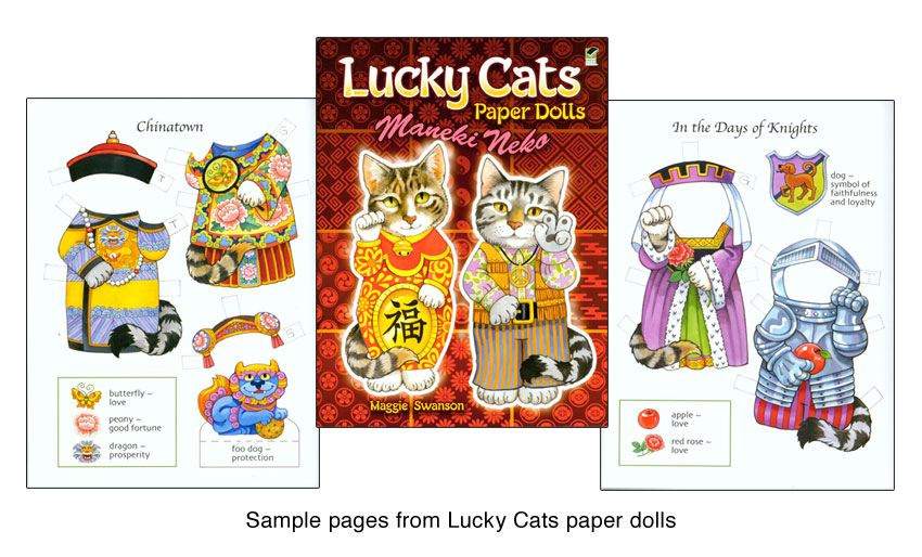 Lucky Cats Paper Dolls