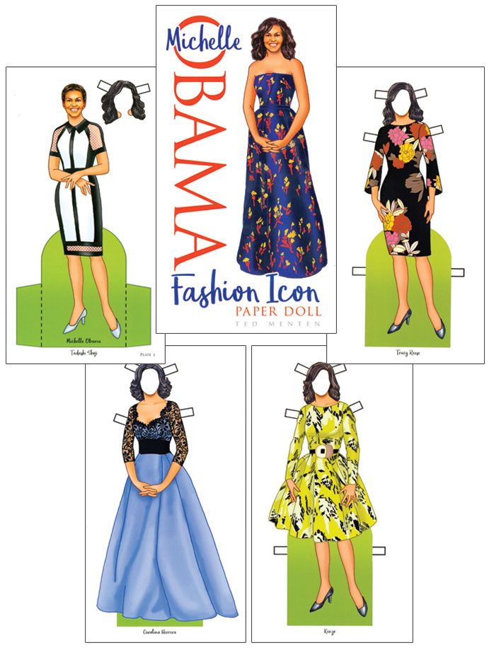 Michelle Obama Fashion Icon Paper Doll