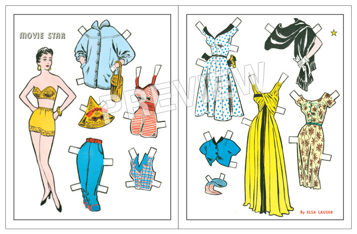 Movie Star Paper Doll - Click Image to Close