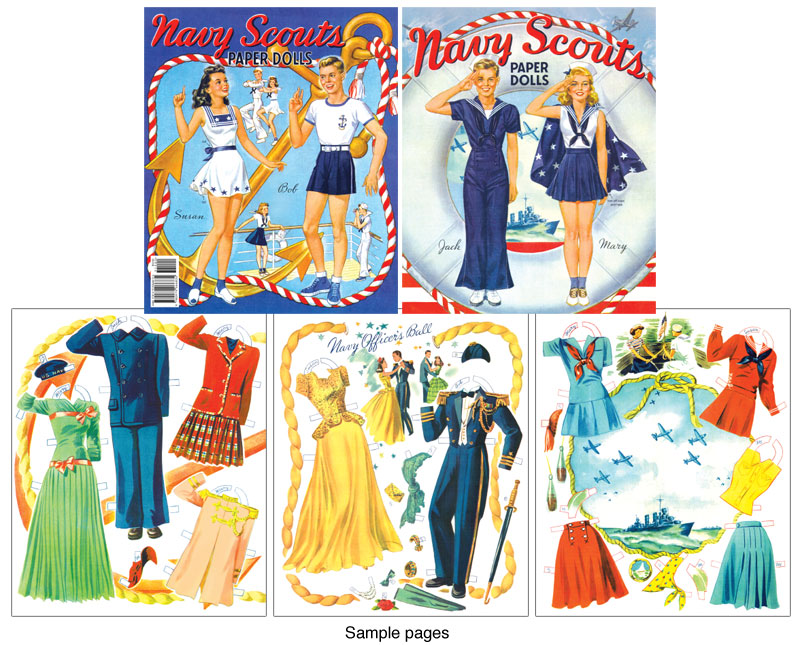 Navy Scouts Paper Doll