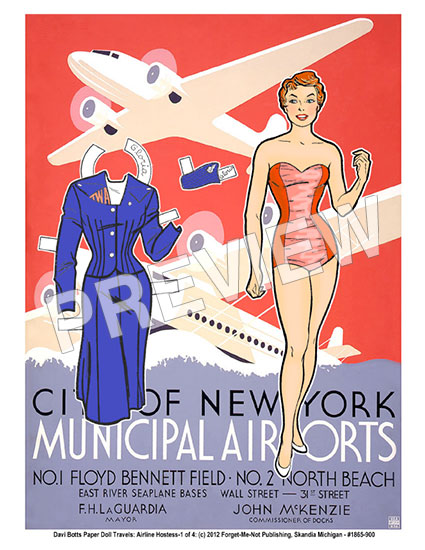 New York Airport Travel Poster - Click Image to Close