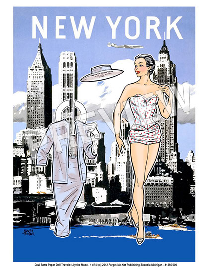 New York Paper Doll Travel Print