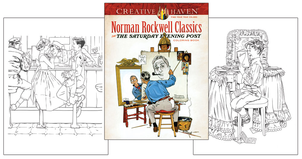 norman rockwell coloring pages - photo#24