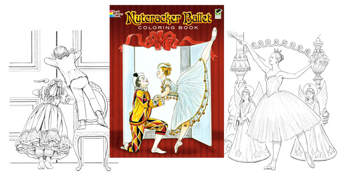 Ballet the nutcracker characters coloring