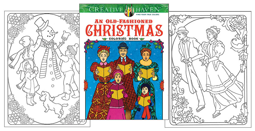 An Old Fashioned Christmas Coloring Book [Nostalgic designs to color ...