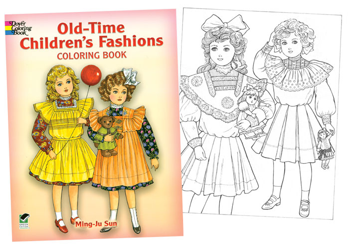 Old-Time Children\'s Fashions Coloring Book [Victorian fashions to ...