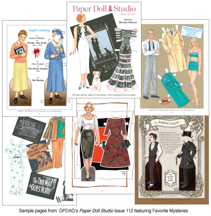 Opdag  Paper Doll Studio Magazine Issue  Favorite Mysteries