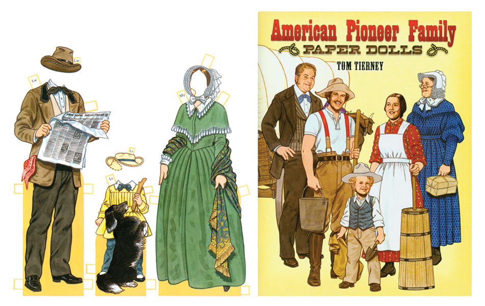 American Pioneer Family Paper Dolls - Click Image to Close