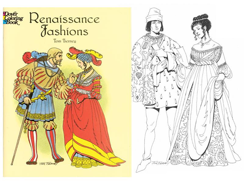 renaissance fashions coloring book - Fashion Coloring Book