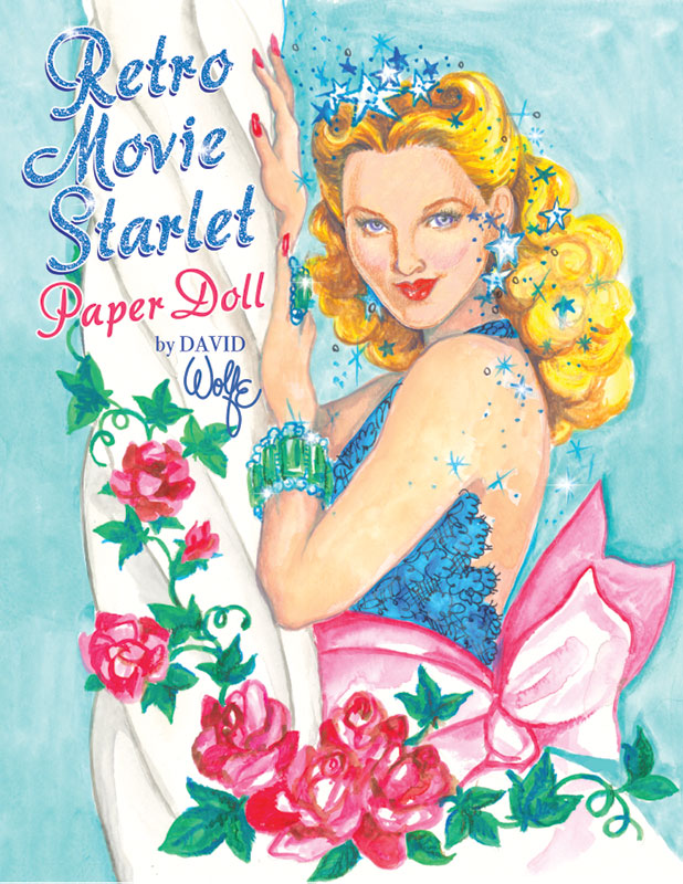 Retro Movie Starlet Paper Doll - Click Image to Close