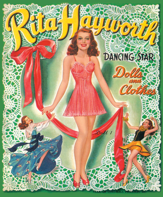 Rita Hayworth Paper Doll - Click Image to Close