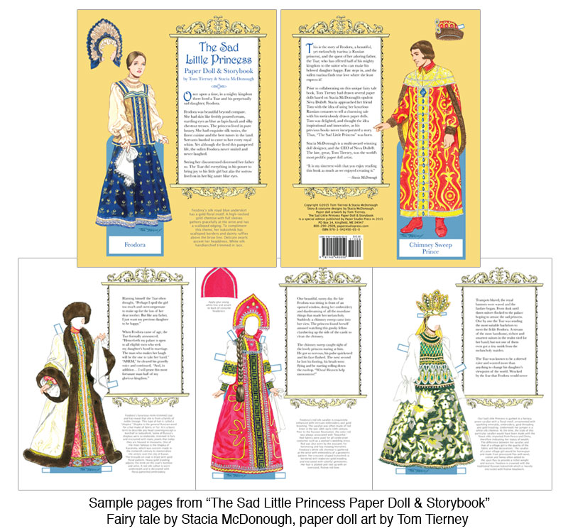 The Sad Little Princess Paper Doll Amp Storybook Fairy Tale
