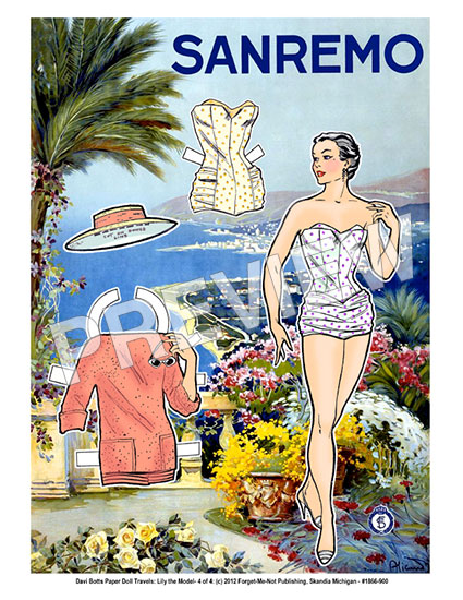 Sanremo Paper Doll Travel Print