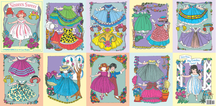 Sisters Sweet Paper Dolls - Click Image to Close