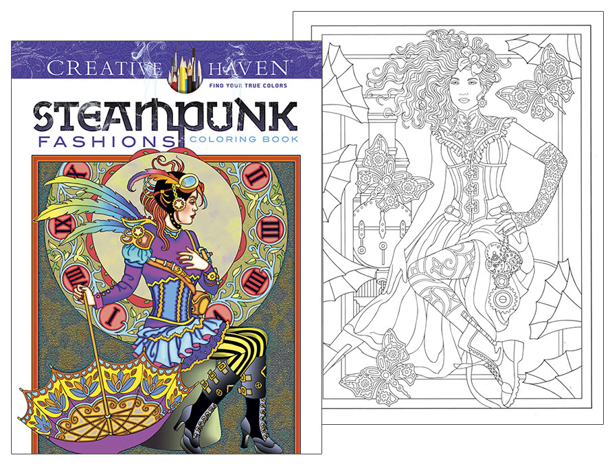 Steampunk Fashions Coloring Book - Click Image to Close
