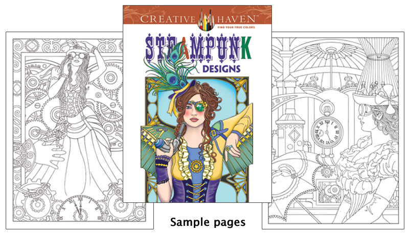 Steampunk Designs Coloring Book