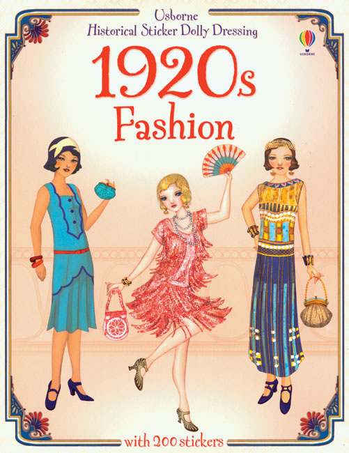 1920s Fashion Sticker Paper Doll