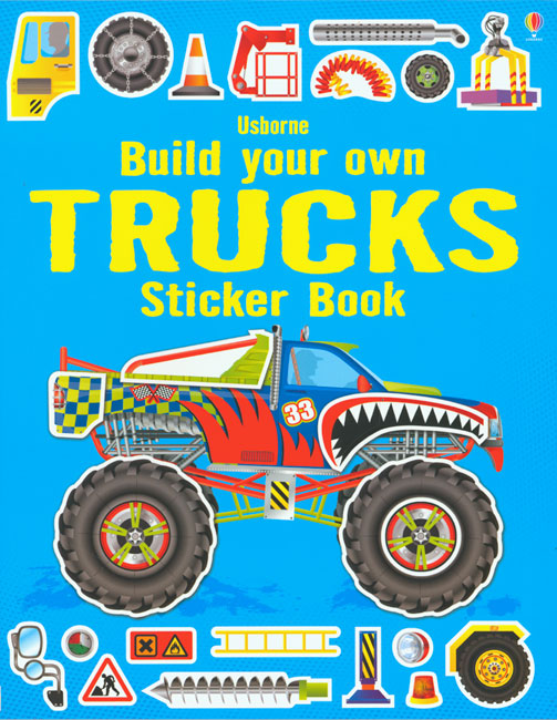 Build Your Own Trucks Sticker Book