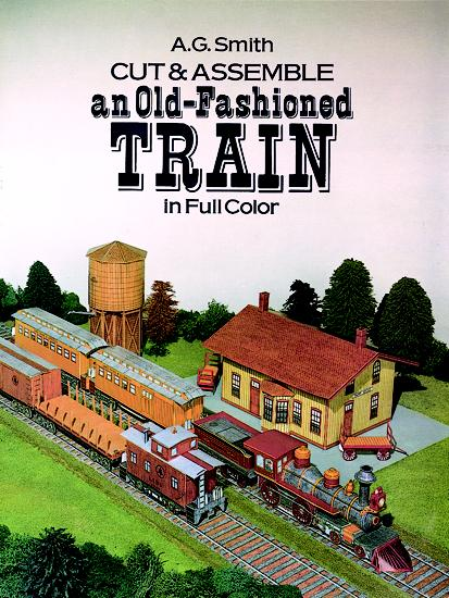 Cut & Assemble Old-Fashioned Train