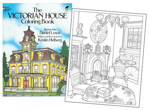 Victorian House Coloring Book [Coloring book fun!] : Paper Dolls of ...