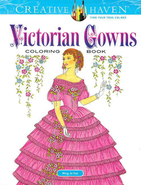 Victorian Gowns Coloring Book