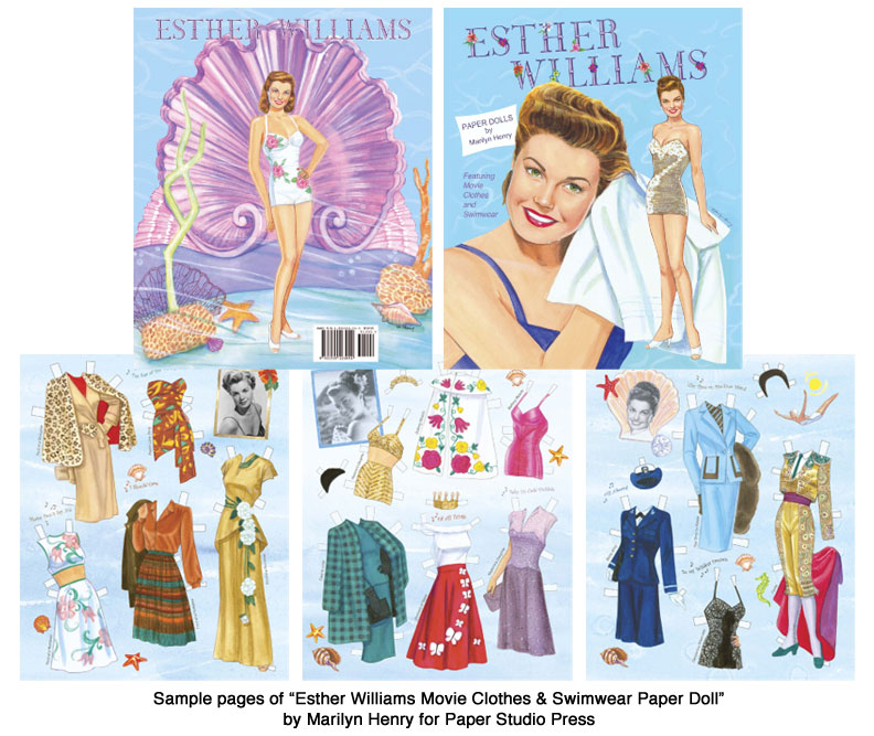 Esther Movie Clothes And Swimwear Paper Dolls MgmS Swimming