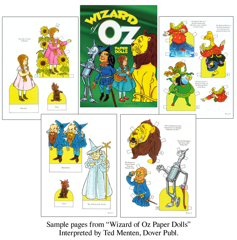 Wizard Of Oz Paper Dolls [Based On L. Frank Baum Classic] : Paper